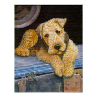 Airedale Terrier Dog Portrait Posters