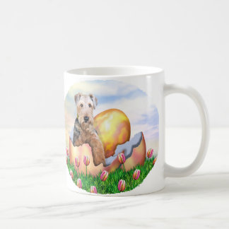 Airedale Terrier Easter Surprise Classic White Coffee Mug