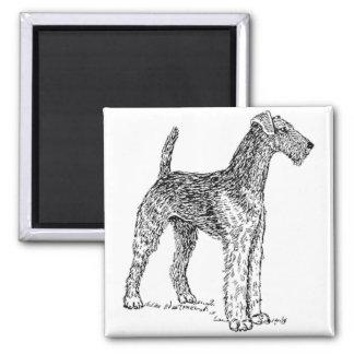 Airedale Terrier Elegant Dog Drawing Magnet