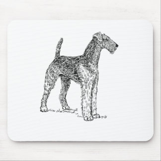 Airedale Terrier Elegant Dog Drawing Mouse Pad