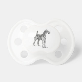 Airedale Terrier Elegant Dog Drawing Pacifier