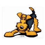 Airedale Terrier en el juego Postales
