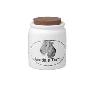 Airedale Terrier Euro-Type Candy Dish