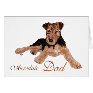 Airedale Terrier Fathers Day Card