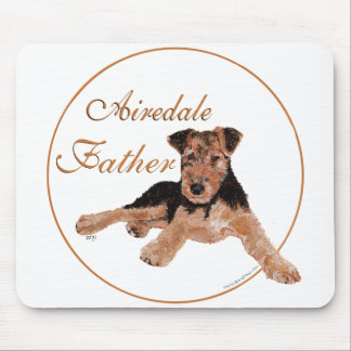 Airedale Terrier Fathers Day Mouse Pad