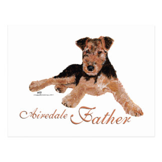 Airedale Terrier Fathers Day Postcard