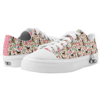 Airedale Terrier Floral sneakers - dog print shoes