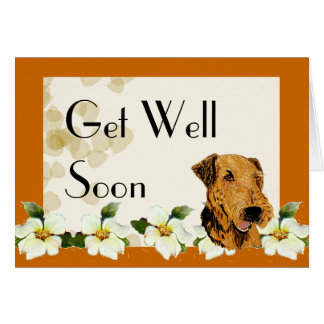 Airedale Terrier Get Well Card