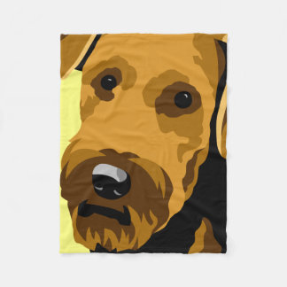 Airedale Terrier Gifts Fleece Blanket