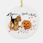 Airedale Terrier Halloween Ornamentos De Reyes Magos
