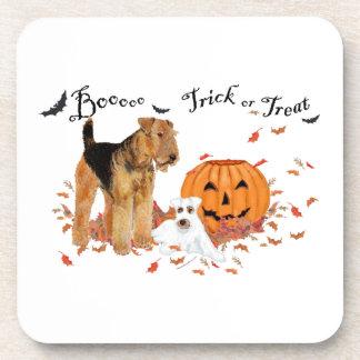 Airedale Terrier Halloween Posavasos De Bebida