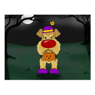 Airedale Terrier Halloween Postcard