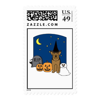 Airedale Terrier Halloween Sello