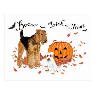 Airedale Terrier Halloween Tarjetas Postales