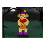 Airedale Terrier Halloween Tarjeta Postal