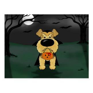 Airedale Terrier Halloween Vampire Postcard