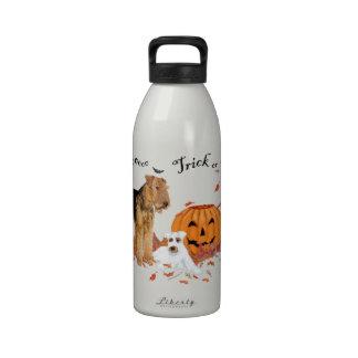 Airedale Terrier Halloween Reusable Water Bottles