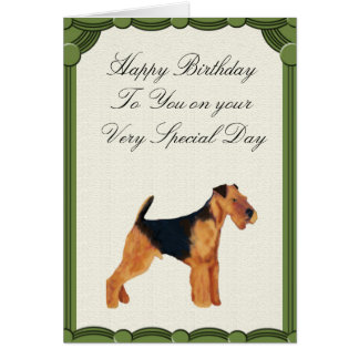 Airedale Terrier Happy Birthday Card