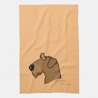 Airedale Terrier head silhouette Hand Towel