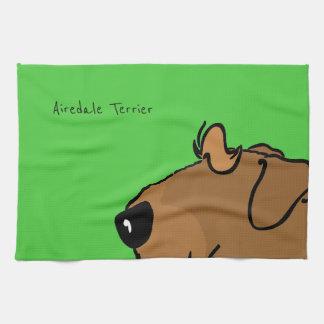 Airedale Terrier Head Towel