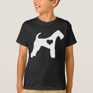 Airedale Terrier Heart Dark Kids T-Shirt