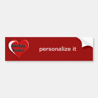 Airedale Terrier Heart for Dog Lovers Bumper Sticker