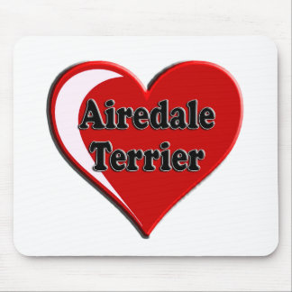 Airedale Terrier Heart Mouse Pad
