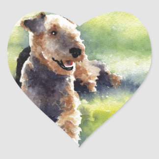 Airedale Terrier Heart Sticker