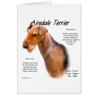 Airedale Terrier History Design Greeting Card