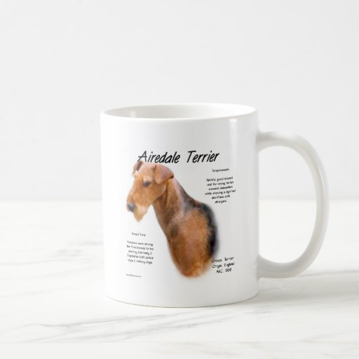 Airedale Terrier History Design Classic White Coffee Mug