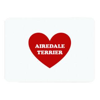 "Airedale Terrier Invitación 5"" X 7"""