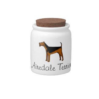 Airedale Terrier Jar Candy Jar