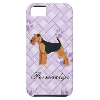 Airedale Terrier Lavendar Weave iPhone 5 Cover