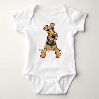 Airedale Terrier Line Art Baby Bodysuit