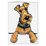 Airedale Terrier Line Art Greeting Card