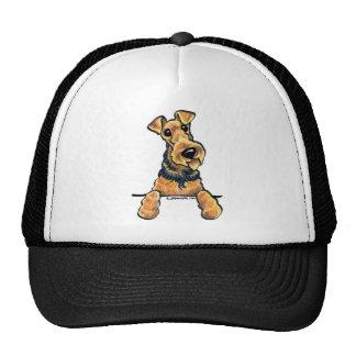 Airedale Terrier Line Art Mesh Hat