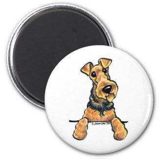 Airedale Terrier Line Art Magnet