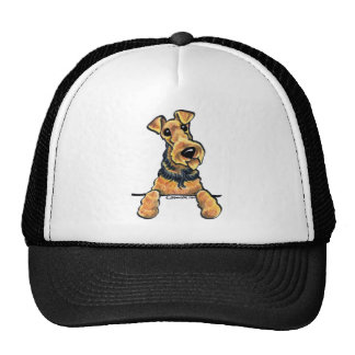 Airedale Terrier Line Art Trucker Hat