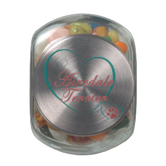 Airedale Terrier Love Glass Candy Jars