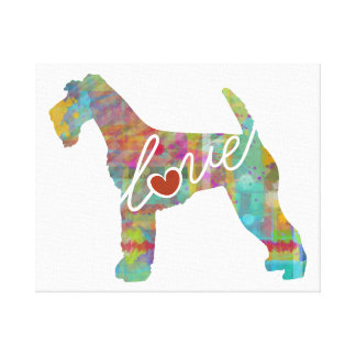 Airedale Terrier Love (Watercolor) Canvas Print