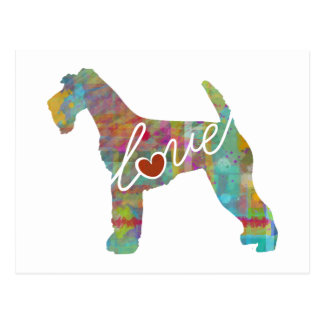 Airedale Terrier Love (Watercolor) Postcard