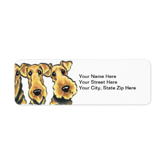Airedale Terrier Lover Label