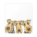 Airedale Terrier Lover Note Pad