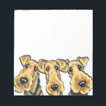 "Airedale Terrier Lover Notepad<br><div class=""desc"">Original art and design by Off-Leash Art featuring the favorite Airedale Terrier dog breed.</div>"