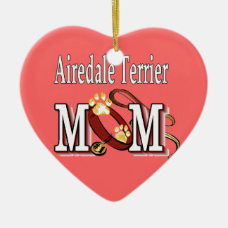 Airedale Terrier Mom Gifts Ceramic Ornament