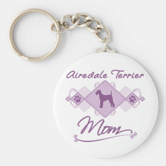 Airedale Terrier Mom Keychains