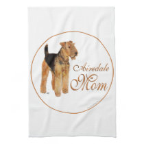 Airedale Terrier Mothers Day Kitchen Towel
