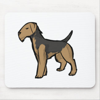 Airedale terrier mouse pads