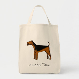Airedale Terrier Organic tote