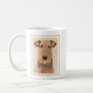 Airedale Terrier Painting - Cute Original Dog Art Coffee Mug